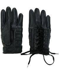 KTZ | Lace-up Biker Gloves | Lyst