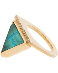 Katerina Makriyianni - Green Triangle Ring - Lyst