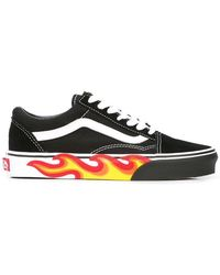 9de13d8aa93 Vans Authentic Checker Flame in Black for Men - Save 42% - Lyst