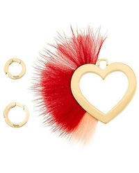 Fendi - Heart And Feather Pendant - Lyst
