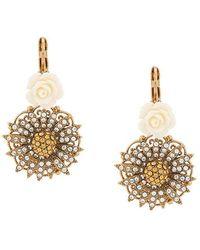 Dolce & Gabbana - Цветочные Серьги С Кристаллами - Lyst