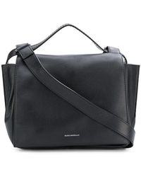 74f16daa55c Elena Ghisellini Small Usonia Sensua Black Leather Tote Bag in Black - Lyst