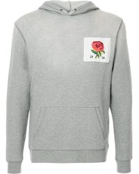 Kent & Curwen - Embroidered Rose Hoodie - Lyst