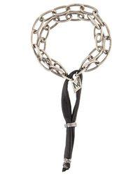 M. Cohen | Frosted Onyx Stone Bracelet | Lyst