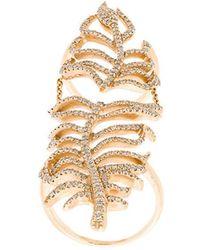Elise Dray - Leaf Cuff Ring - Lyst
