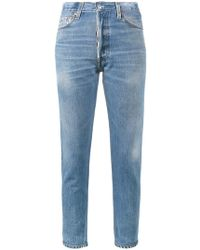 RE/DONE - High-rise Cropped Jeans - Lyst