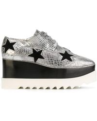 93ba6dc377d1 Lyst - Stella McCartney Elyse Patent Platform Shoes in Black