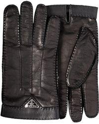 Prada - Stitch Detail Gloves - Lyst