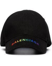 6b950b672b074 Balenciaga - Logo Embroidered Baseball Cap - Lyst