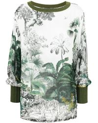Alberta Ferretti - Printed Sweatshirt - Lyst