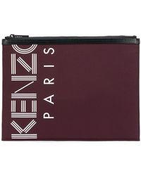 KENZO - A4 Logo Clutch - Lyst