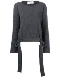 Zanone - Slash Neck Drawstring Sweater - Lyst