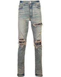 Amiri Ripped Layered Skinny Jeans
