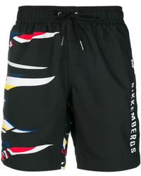 Dirk Bikkembergs - Graphic Print Swim Trunks - Lyst