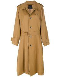 Erika Cavallini Semi Couture - Oversized Trench Coat - Lyst