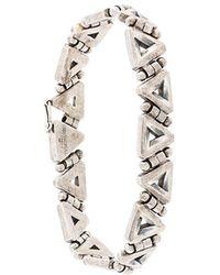 Northskull - Triangle Link Bracelet - Lyst