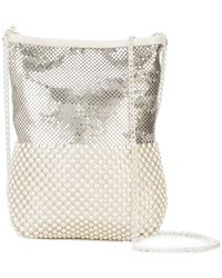 Laura B - White/silver Mesh Party Bag - Lyst