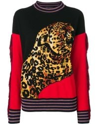 Versace - Printed Pullover With Wool And Cashmere - Lyst