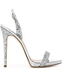 25d5a7680482 Lyst - Gucci Sofia High Heel Slingback Platform Sandal in Metallic
