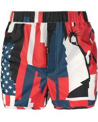 Valentino - Usa Print Swim Shorts - Lyst