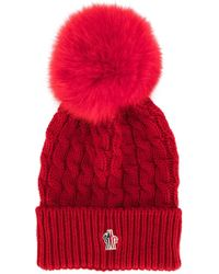 Moncler Grenoble - Wool Hat With Bow - Lyst