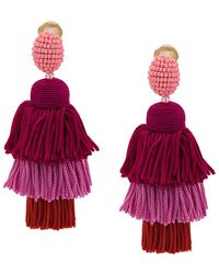 Oscar de la Renta - Long Tasseled Earrings - Lyst