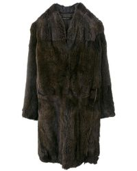 32 Paradis Sprung Freres - Fur-lined Coat - Lyst