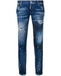 DSquared² - Jeans mit Farbklecks-Print - Lyst