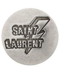 Saint Laurent - Logo Round Badge - Lyst