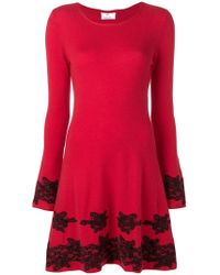 Allude - Floral Lace Detail Dress - Lyst