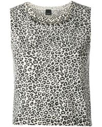Pinko - Leopard Print Sleeveless Top - Lyst