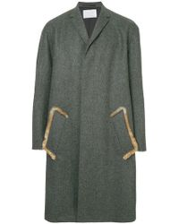 Kolor - Elbow Patch Single-breasted Coat - Lyst