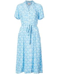 Harley Viera-Newton - Capitol Xx Collection Belted Floral Dress - Lyst