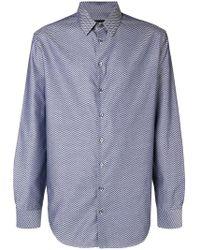 Giorgio Armani - Herringbone Print Shirt - Lyst