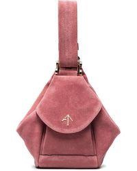 MANU Atelier   Pink Fernweh Micro Suede Bag   Lyst