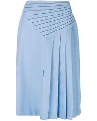 Marco De Vincenzo - Side Pleated Midi Skirt - Lyst