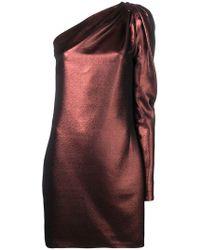 Victoria, Victoria Beckham - Metallic One-shoulder Dress - Lyst