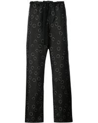 Ann Demeulemeester   Printed Wide Leg Trousers   Lyst