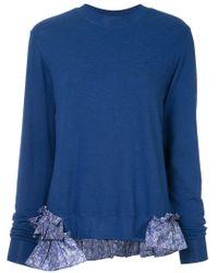 CLU - Longsleeved Ruffle Detailed Sweater - Lyst