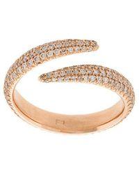 Eva Fehren - Diamond Embellished Midi Ring - Lyst
