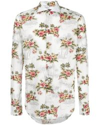 Dell'Oglio - Hawaiian Print Shirt - Lyst
