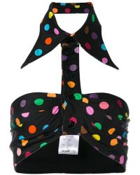 Givenchy - Polka Dot Collared Bralette - Lyst