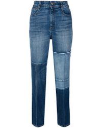 Stella McCartney - Patchwork Cropped Jeans - Lyst