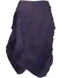 Issey Miyake - Pleated Asymmetric Skirt - Lyst