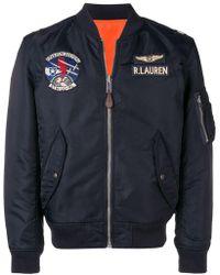 Polo Ralph Lauren - Chaqueta bomber estilo aviador - Lyst