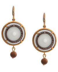 Bottega Veneta - Embellished Pendant Earrings - Lyst