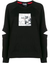 Karl Lagerfeld - Manga Print Spliced Sleeve Sweatshirt - Lyst