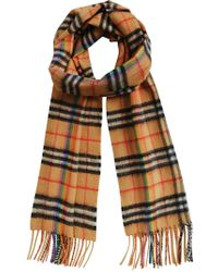 Burberry - Vintage Rainbow Check Scarf - Lyst