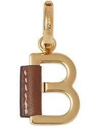 Burberry Leather-wrapped 'b' Alphabet Charm