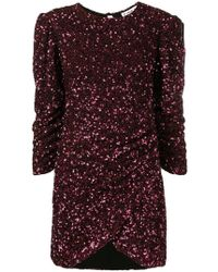 Ainea - Sequinned Ruched Dress - Lyst
